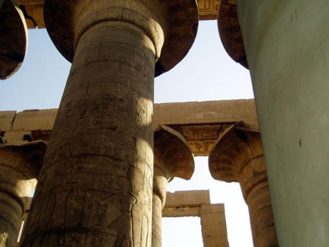 Egyptian Temple by deinemuse