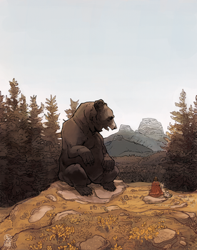 Speaking With a Giant Bear by Seyorrol