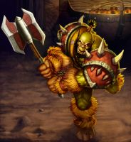 Orc Warrior by rainerpetterart