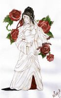 Lady with Roses by Sturmdaemonin
