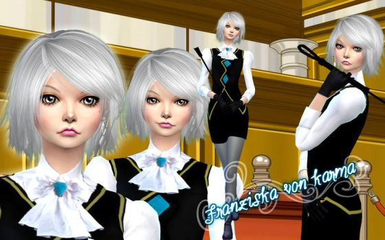 Wallpaper Franziska Von Karma by RainboWxMikA