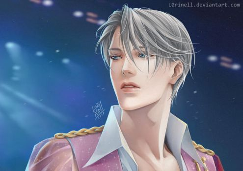Yuri on Ice Victor Nikiforov by L0riNell