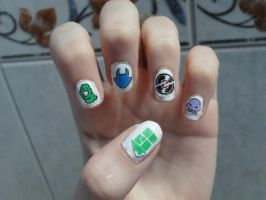 Homestuck nails by TiredZombie98