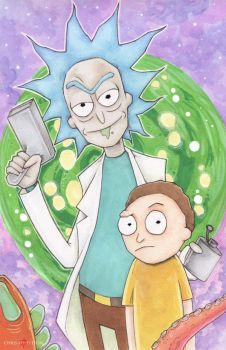 Rick and Morty by ChrisOzFulton