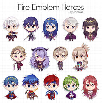 Fire Emblem Heroes (Keychains) by enzouke