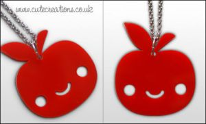 Red Apple Necklace by ThePeasyLifeCo
