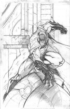 Batman random action pose by jpm1023
