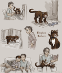 The one where Stephen is a cat by ErinPtah