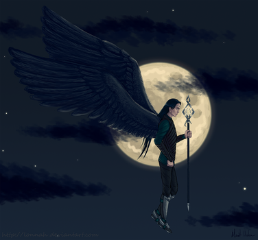 Gods and Goddesses - Night by Lonnah
