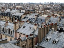 Roofs of Paris by SUDOR