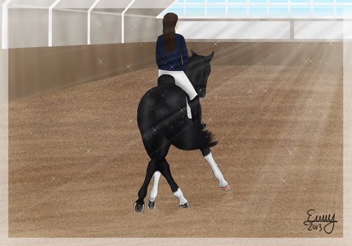Sunny Dressage Training by FamousFox