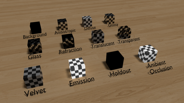 Different Cycles Shaders by PsychoFisch
