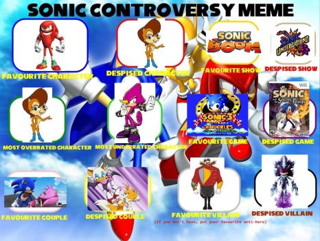 My Sonic Controversy Meme by TheAutisticKid1