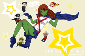 YOUNG JUSTICE: Team by eclair-chan