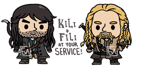 Fili and Kili! at your service! by MinjiXMuu-chan