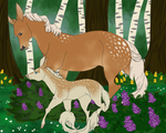 Blossom and her Baby by AgentDarkhorse