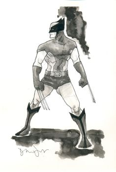 Wolverine Black and White by drewtjones