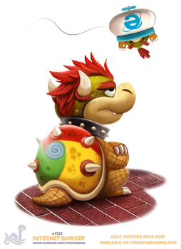 Daily Painting 1731# Internet Bowser by Cryptid-Creations