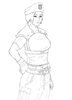 resident evil 5 jill valentine coloring pages | Moira pin up Resident Evil Revelations 2 Fan Art by ...