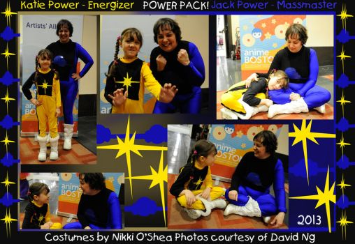 Power Pack Costumes - Energizer and Massmaster by DragonPress