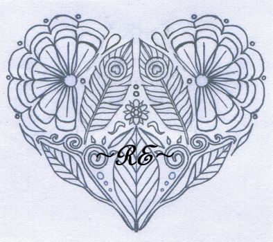Heart tattoo design - comission by Arieegreen