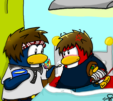 .::Meanwhile, at the hospital::. by PhilippinePenguin13