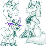 King Sombra Sketches by Evehly