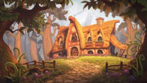 The Charm Maker's Cottage - 3D by drewbrand