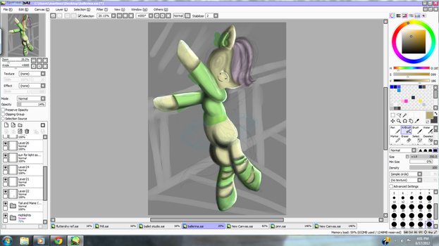 Filly Fluttershy Ballerina -Work In Progress- by DizMahJam