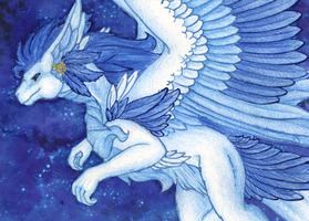 ACEO/ATC: To the Stars by Samantha-dragon