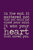 It Was Your Heart That Saved You by inkandstardust