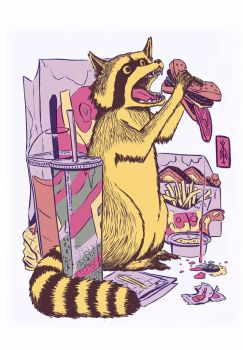 Raccoonburger by chik-a-dee