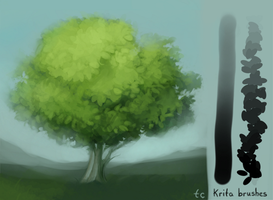 Krita Leaf/Colouring Brush by taleclock