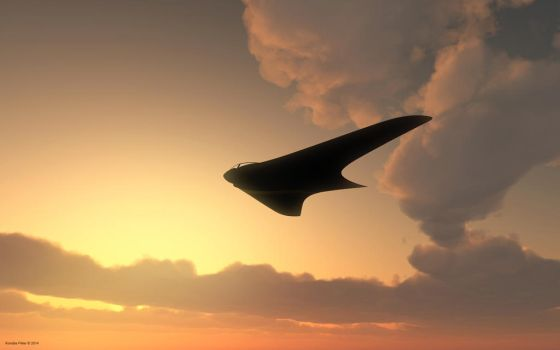 Horten 229 on the sky by kondaspeter1