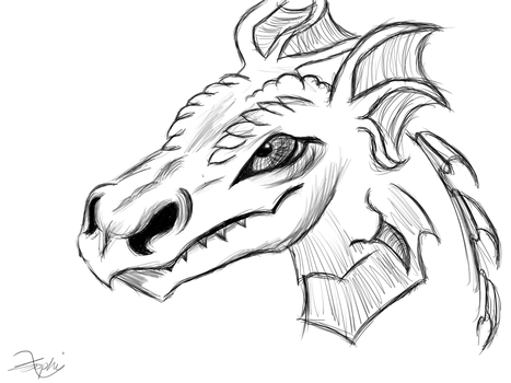Dragon head sketch by sofas123