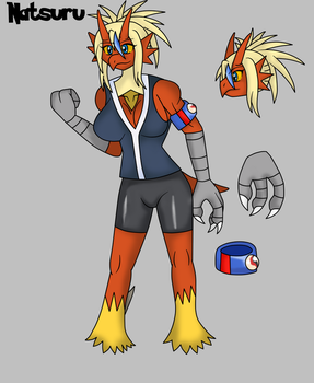 Natsuru the Blaziken by Draw-ze-Drawing