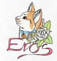 Eros and roses by AKPEros