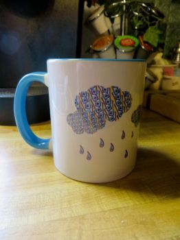 CGul Design: Patterned Rain Cloud Coffee Mug by snoopgirl