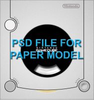PSD - GameCube Paper Model by KnightRanger