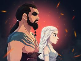 Drogo and Daenerys by Ransomniaccc