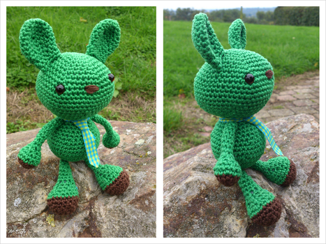 Wasabi the bunny by Sandien