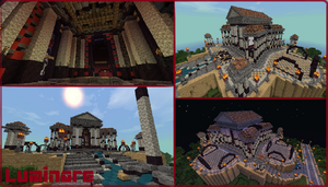 Minecraft- New DFO Spawn Building by X-Luminare-X