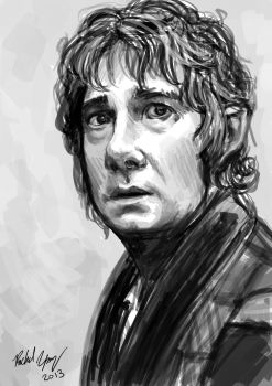 Bilbo Sketch by Distraction-Number-4