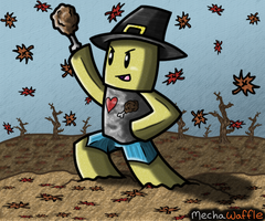 Shedletsky's Roblox ThanksGiving by MechaWaffle