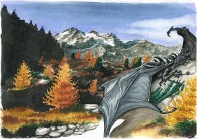Autumdragon, traditional by Caracan