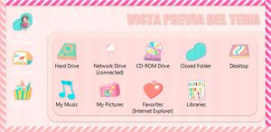 Tema IconPackager Cartoon Kawaii by leyfzalley