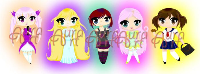 Chibi adoptables no longer being sold for a cause by Auradria
