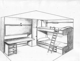 Furniture Composition 1 by Mawee1034