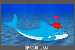 Obscuri-Jam 2017 - Chees The female dolphin by C5000-MakesStuff