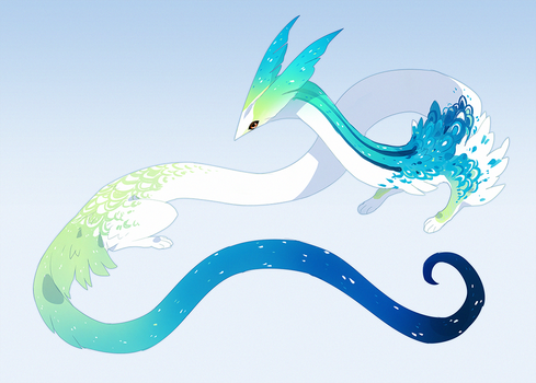 Squiggle Budgie by QuillCoil